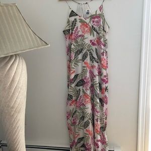 NWOT White Floral Maxi dress